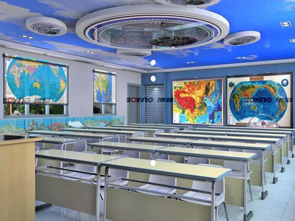 环境监测,地理信息技术,地理教学辅助六个领域的综合性地理实验室.